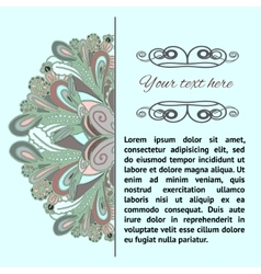 dudle pattern with place for text vector image vector image