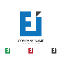 e letter logo business template icon design vector image vector image