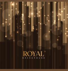 elegant royal background with golden bars effect vector image