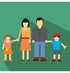 Family flat icon vector image vector image