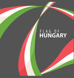 flag of hungary against a dark background vector image vector image