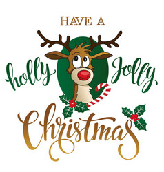 funny reindeer on white background vector image vector image
