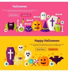 Happy Halloween Website Banners vector image vector image