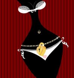 locked panties vector image vector image