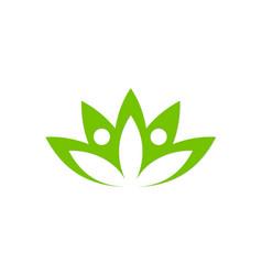Lotus flower beauty spa logo vector