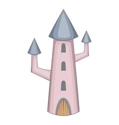 Magic castle icon cartoon style vector image