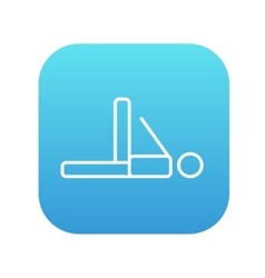 Man making exercises line icon vector