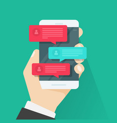 mobile phone chat message notifications chatting vector image