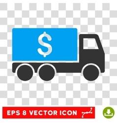 Money delivery icon vector