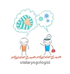 otolaryngologist says about bacteria and nose with vector image vector image