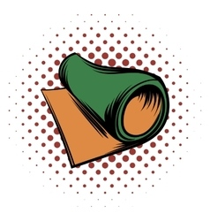 Rolled mat comics icon vector