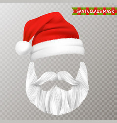 santa claus transparent christmas mask vector image
