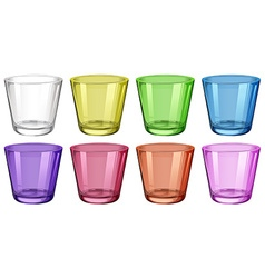 Set of glasses in different colors vector