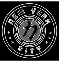 T shirt New York Character Power Force vector image