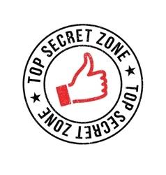 Top secret zone rubber stamp vector