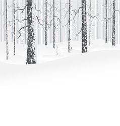 Winter deciduous forest vector image vector image