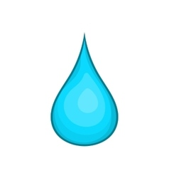 Water drop icon cartoon style vector