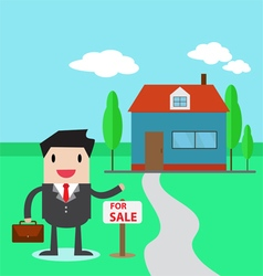 A real estate agent vector