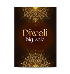 Diwali big sale banner indian festival of lights vector
