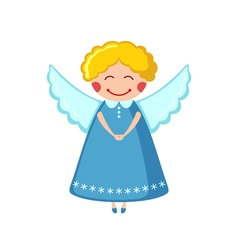 Cute angel icon in flat style vector image