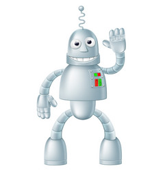 fun robot charcater vector image