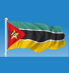 Flag of mozambique vector