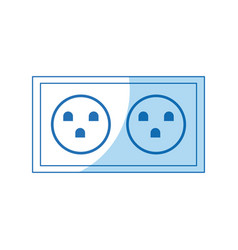 Electric socket power double design vector