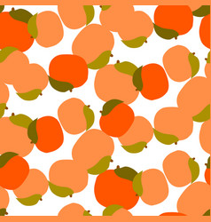 Peach seamless pattern on white vector