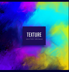 Colorful watercolor texture background design vector
