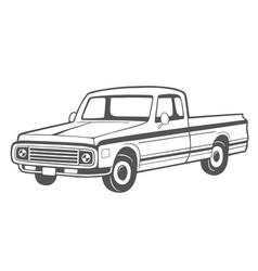 Pickup truck vector