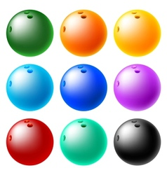 Bowling ball set vector
