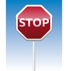 Stop traffic board vector image