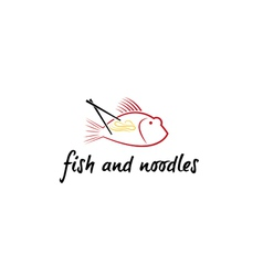 Fish and noodles vector