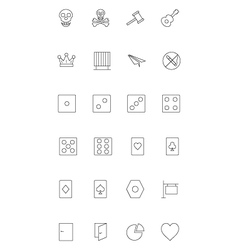 Line icons 14 vector image