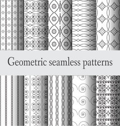 Monochrome-geometric-seamless-pattern vector