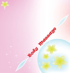 Body massage background vector