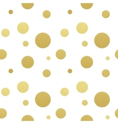 Classic dotted seamless gold glitter pattern vector