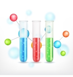 Test-tube with molecule vector