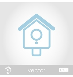 Nesting box bird-house icon vector