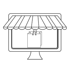 Electronic device screen with commerce icon vector