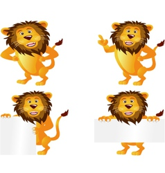 lion collection vector image