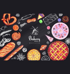 Bakery and bread frame1 vector