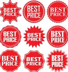 Best price signs set best price sticker set vector image vector image