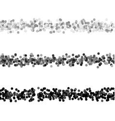 Circle pattern webpage separator line design set vector