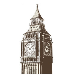Clock tower vector