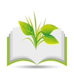 Eco book environment nature flora graphic vector