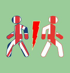 England exit from united kingdom vector
