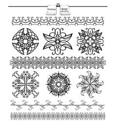 Fancy Shapes Design Elements vector image