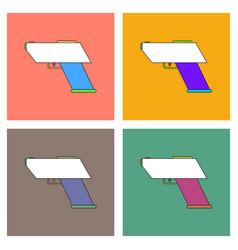 Flat icon design collection electric gun vector