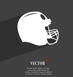 football helmet symbol Flat modern web design with vector image vector image